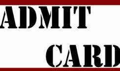 admit card 2017