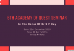 6th Academy Of Quest Seminar