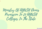 Ministry Of AYUSH Denies Permission To 27 AYUSH Colleges In The State