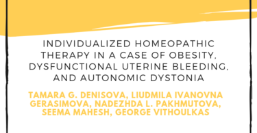 Individualized Homeopathic Therapy in a Case of Obesity, Dysfunctional Uterine Bleeding, and Autonomic Dystonia