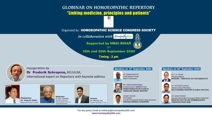 "Recording Of Globinar On Homoeopathic Repertory ""Linking Medicine, Principles And Patients"