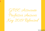 GPSC Associate Professor Answer Key 2019 Released