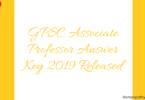 GPSC Associate Professor Answer Key 2019 Released