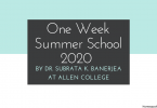 One Week Summer School 2020