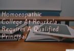 Homoeopathic College At Rourkela Requires A Qualified Principal