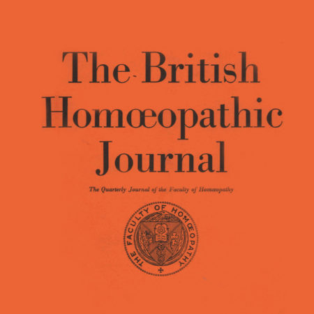 The British Homoeopathic Journal Vol. LX No.1 January 1971